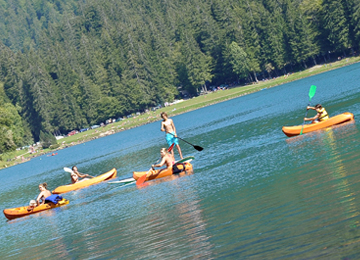 Canoeing on Lake Montriond