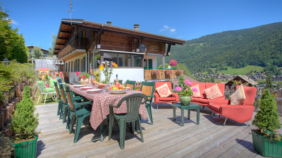 Chalet Morzine and sun terrace