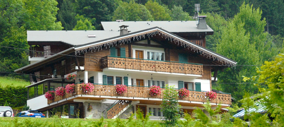 Chalet Morzine in summer