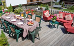 Chalet Morzine terrace in summer