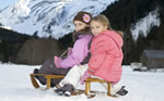 Children on sledge