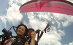 Close-up of paragliding