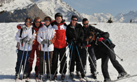 Group ski lesson