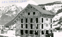 Hotel les Cimes under construction 1951