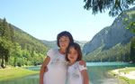 Children at Lake Montriond