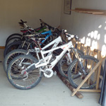 Secure mountain bike storage at Chalet Morzine