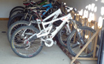 Mountain bike secure storage at Chalet Morzine