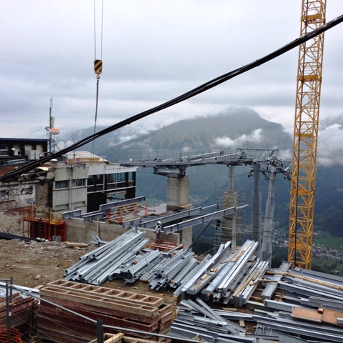 New Pylons at the top of the new Morzine Pleney Lift System