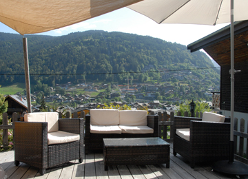 Outdoor lounge at Chalet Morzine