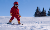 Small child skiing