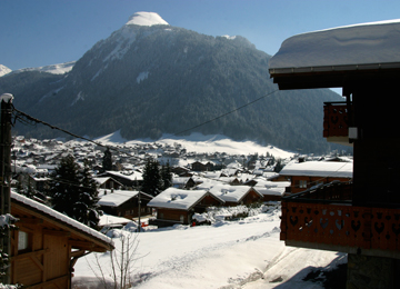 View of Morzine from Chalet Morzine