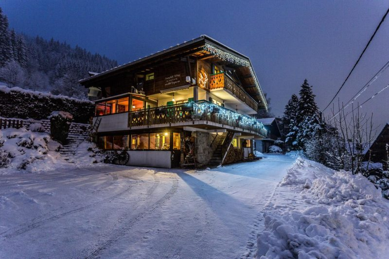 Chalet Morzine in the winter