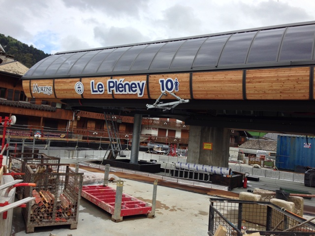 the new departure station of the pleney lift on 13th October